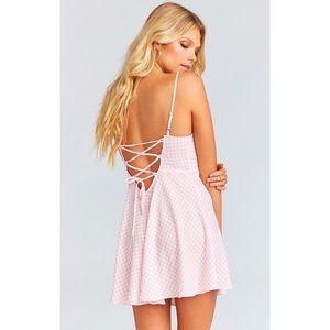 SMYM | Pink Gingham Dress.